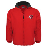 Red Survivor Jacket-BSU w/ Bear Head
