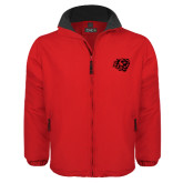 Red Survivor Jacket-BSU w/ Bear Head Tone