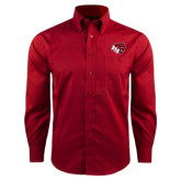 Red House Red Long Sleeve Shirt-BSU w/ Bear Head