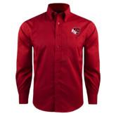 Red House Red Long Sleeve Shirt-BSU w/ Bear Head