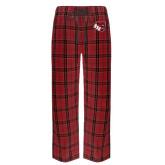 Red/Black Flannel Pajama Pant-BSU w/ Bear Head