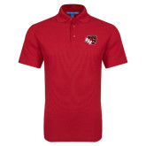 Red Dry Zone Grid Polo-BSU w/ Bear Head