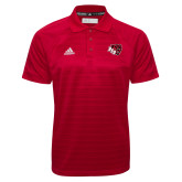 Adidas Climalite Red Jaquard Select Polo-BSU w/ Bear Head