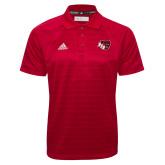 Adidas Climalite Red Jaquard Select Polo-BSU w/ Bear Head