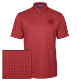 Red Performance Fine Jacquard Polo-BSU w/ Bear Head Tone