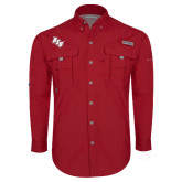 Columbia Bahama II Red Long Sleeve Shirt-BSU