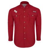 Columbia Bahama II Red Long Sleeve Shirt-BSU