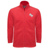 Fleece Full Zip Red Jacket-BSU