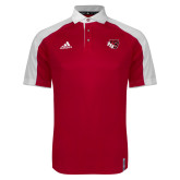 Adidas Modern Red Varsity Polo-BSU w/ Bear Head