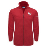 Columbia Full Zip Red Fleece Jacket-BSU