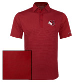 Columbia Red Omni Wick Sunday Golf Polo-BSU w/ Bear Head
