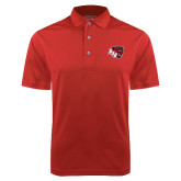 Red Dry Mesh Polo-BSU w/ Bear Head
