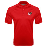 Red Textured Saddle Shoulder Polo-BSU w/ Bear Head