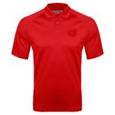 Red Textured Saddle Shoulder Polo-BSU w/ Bear Head Tone