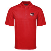 Red Mini Stripe Polo-BSU w/ Bear Head