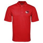 Red Mini Stripe Polo-BSU w/ Bear Head