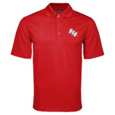 Red Mini Stripe Polo-BSU