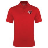 Columbia Red Omni Wick Drive Polo-BSU w/ Bear Head