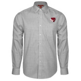 Red House Grey Plaid Long Sleeve Shirt-BSU w/ Bear Head
