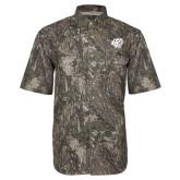 Camo Short Sleeve Performance Fishing Shirt-BSU w/ Bear Head