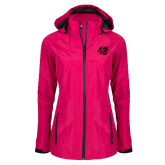 Ladies Dark Fuchsia Waterproof Jacket-BSU w/ Bear Head Tone
