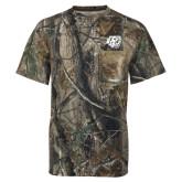 Realtree Camo T Shirt w/Pocket-BSU w/ Bear Head