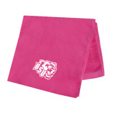 Pink Beach Towel-BSU w/ Bear Head