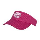 Pink Athletic Mesh Visor-BSU w/ Bear Head