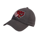 Charcoal Twill Unstructured Low Profile Hat-BSU w/ Bear Head