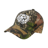 Mossy Oak Camo Structured Cap-BSU w/ Bear Head