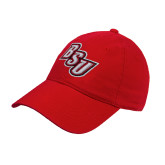 Red Twill Unstructured Low Profile Hat-BSU