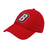 Red Twill Unstructured Low Profile Hat-B