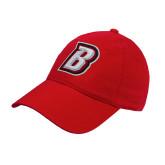 Red OttoFlex Unstructured Low Profile Hat-B