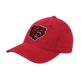 Red Flexfit Structured Low Profile Hat-Bear Head