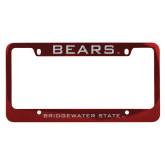 Metal Red License Plate Frame-Bears