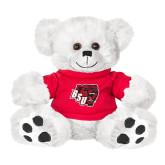 Plush Big Paw 8 1/2 inch White Bear w/Red Shirt-BSU w/ Bear Head