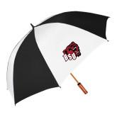 64 Inch Black/Whit Umbrella-BSU w/ Bear Head