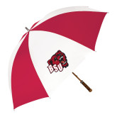 62 Inch Red/White Vented Umbrella-BSU w/ Bear Head