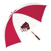 62 Inch Red/White Vented Umbrella-BSU w/ Bear Head