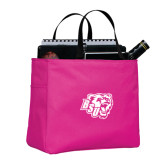 Tropical Pink Essential Tote-BSU w/ Bear Head