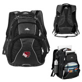 High Sierra Swerve Black Compu Backpack-BSU w/ Bear Head