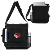 Impact Vertical Black Computer Messenger Bag-BSU w/ Bear Head
