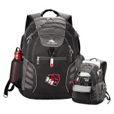 High Sierra Big Wig Black Compu Backpack-BSU w/ Bear Head