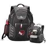 High Sierra Big Wig Black Compu Backpack-BSU w/ Bear Head