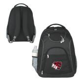 The Ultimate Black Computer Backpack-BSU w/ Bear Head