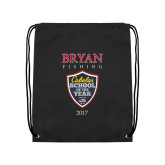 Black Drawstring Backpack-Bryan Fishing Champions