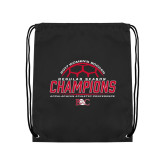 Black Drawstring Backpack-2017 Womens Soccer Champions