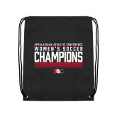 Black Drawstring Backpack-2017 Womens Soccer Champions - Lined Design