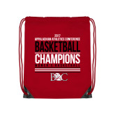 Red Drawstring Backpack-2017 Appalachian Athletics Conference Womens Basketball Champions Stacked
