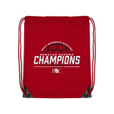 Red Drawstring Backpack-2017 Womens Soccer Champions